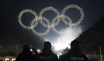 اینتل چراغ المپیک زمستانی ۲۰۱۸ را با ۱۲۱۸ پهپاد سبک روشن کرد