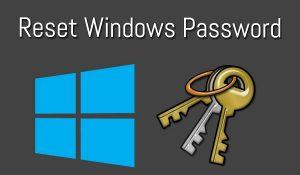 Reset Windows iSee password