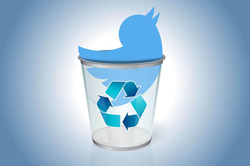 حذف کردن حساب کاربری توییتر از طریق سایت