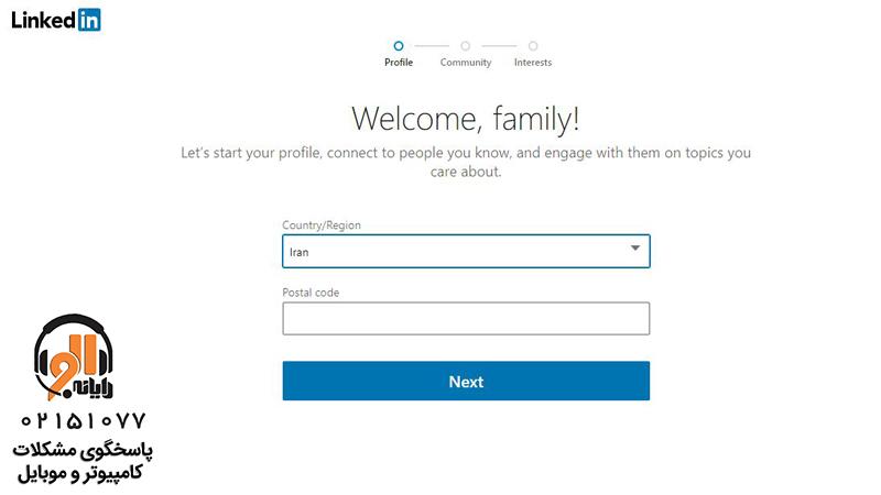 how to create linkedin account