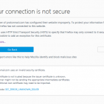 خطای اتصال شما امن نیست در فایرفاکس your connection is not secure