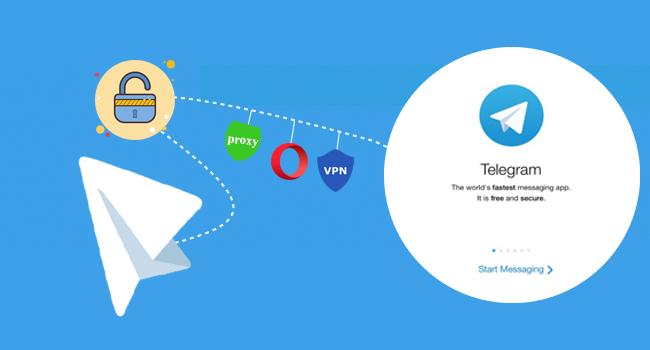 راههای اتصال به تلگرام از طریق vpn ، proxy و مرورگر opera ، حل مشکل connecting تلگرام