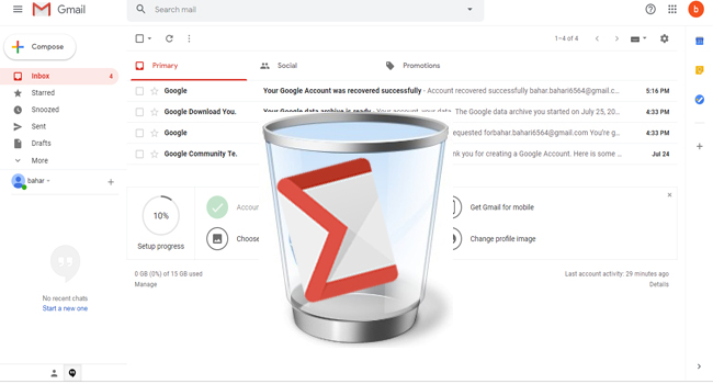 پاک کردن اکانت gmail بصورت دائمی از طریق ویندوز و گوشی | حذف جیمیل گوشی اندروید