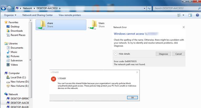 رفع مشکل دسترسی به فایلهای share در ویندوز ۱۰ | تنظیمات share در شبکه