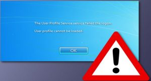 آموزش رفع خطای The User Profile Service failed the logon. User profile cannot be loaded