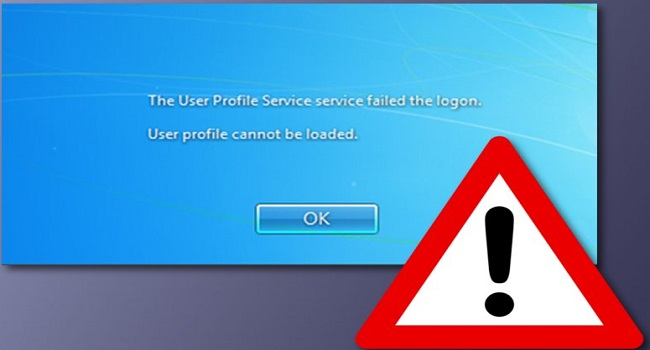 آموزش رفع خطای The User Profile Service failed the logon. User profile cannot be loaded