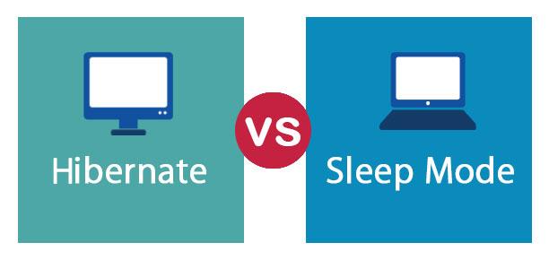 تفاوت میان sleep و hibernate