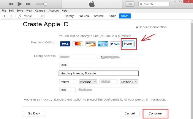 ساخت اپل آیدی با برنامه iTunes