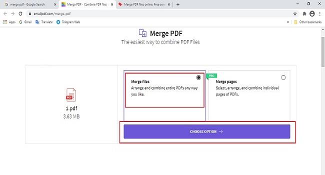 روش تبدیل چند فایل پی دی اف به یک فایل
