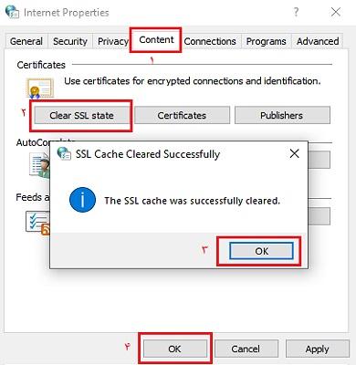 حل مشکل this site can't provide a secure connection