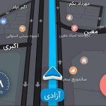 اموزش استفاده از برنامه نشان  | مسیریاب سخنگوی فارسی