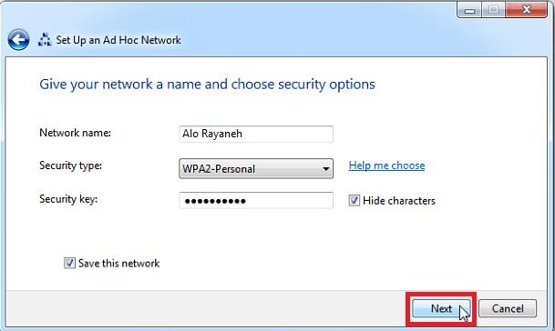 ایجاد شبکه ادهاک در ویندوز 7