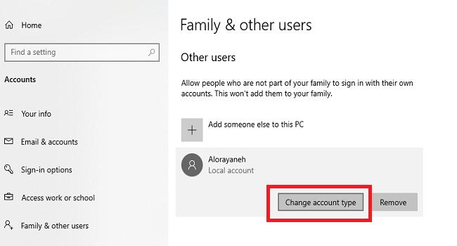 روش اضافه کردن یوزر جدید در ویندوز
