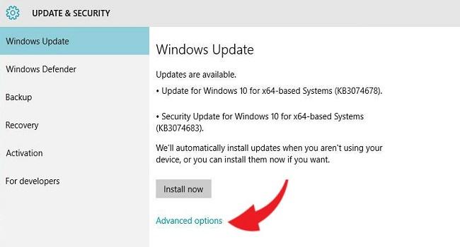 غیرفعالسازی آپدیت برنامههای مایکروسافت در ویندوز ۱۰