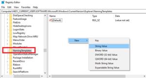 آموزش تغییر نام پیشفرض پوشههای جدید در ویندوز